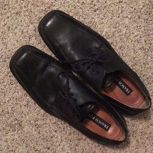 Franco Fortini Men's Leather Black Dress Shoes